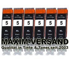 6 für Canon PGI-5BK Black PIXMA MP810 MP830 MP970 MX700 MX850 XXL kein Original