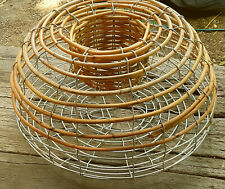 58cm Cane and Steel Lobster trap