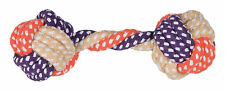 Dog Rope Dumbbell cotton mix 15 cm for throw and fetch games Strong & Tough Toy