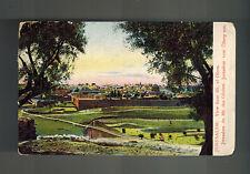 1910 Jerusalem Turkey Palestine Picture Postcard Cover to USA Mount of Olives