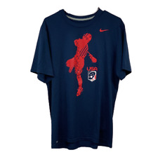 Nike Team Usa Lacrosse Mens Large Training Shirt Athletic Team Blue Dri Fit