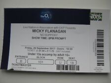 MICKY FLANAGAN  O2 LONDON  29/09/2017 OLD TICKET