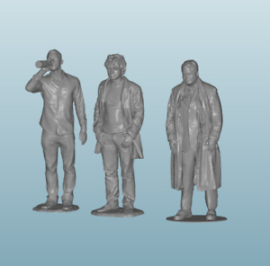 1/24 scale figure diorama people (3 pc) 626-627-628