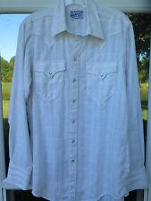 45c61979 Rockmount Ranch Wear Tru-West Gold Metallic Striped Pearl Snap Western  Shirt USA