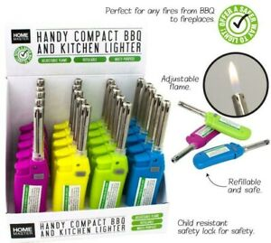 Handy Compact BBQ Kitchen Lighter Fire Refillable Adjustable Flame Butane Gas