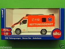 1:50 Siku Super 2108 Rettungswagen Blitzversand per DHL-Paket