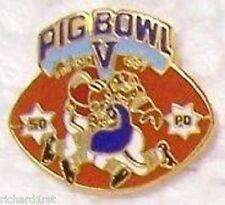 Hat Lapel Pin sports Football Pig Bowl V NEW