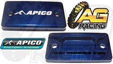 Apico Blue Front Brake Master Cylinder Cover For Suzuki RMZ 450 05-13 MotoX MX