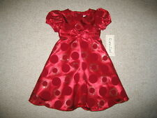 """NEW """"HOLIDAY CIRCLE"""" Double Sparkle Dress Girls 12m Boutique Clothes Baby 1 pc"""