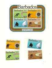 BARBADOS 1984 OLYMPICS SOUVENIR SHEET & SET SCOTT #'s 623-626a MNH FREE SHIPPING