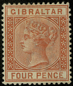 Gibraltar   1886-98  Scott #16  UNUSED