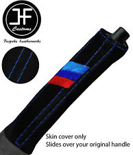 BLUE STITCH M STRIPE SUEDE E BRAKE HANDLE COVER FOR BMW 8 E31 840 850 90-99