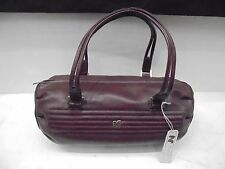 NINA RICCI LEATHER BAG - BORSA VERA PELLE Bordeaux NUOVA - ORIGINAL VINTAGE