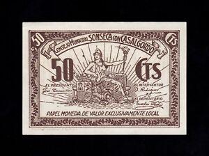 F.C. SONSECA CON CASALGORDO (TOLEDO) , 50 CENTIMOS , S/C .