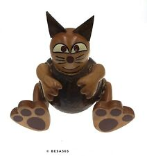 Kinder Katze Kokos Spardose Tier Deko Money Box Holz Handarbeit Unikat Geschenk