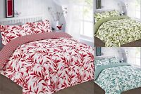 Reversible Duvet Cover Set Double Super King Size Single Printed New Bedding