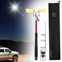 5M 3000LM Telescopic Fishing Rod LED Lantern Outdoor Camping Light BBQ Car  ↑