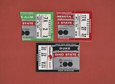 (3) OHIO STATE FOOTBALL 1970 TICKETS STUBS Woody Hayes