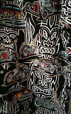 Reyn Spooner Eddy Tiki Rat Rod Hot Rod Aloha Shirt Chopper Bike 46 chest