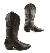 Ladies Nocona Brown Leather Round Toe Cowboy Western Boots Size: 7.5 B
