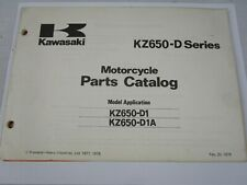 OEM Kawasaki 1977 / 1978 KZ650 Parts Catalog Fiche Book KZ 650 D D1 D1a
