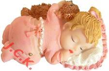 Girls christening 1st birthday new baby resin cake cupcake topper decoration