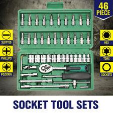 """Set of 46pcs Spanner Socket 1/4"""" Car Repair Screw Driver Ratchet Wrench Tool Kit"""