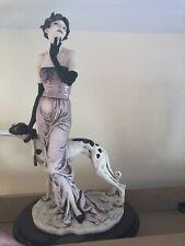 "Giuseppe Armani Figurine ""Charme"" #1317C Lady Greyhound Dog 1998 Italy 19� Rare"