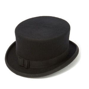 Christys' Dressage Hat Wool Felt. - Riding Top Hat in Black or Navy