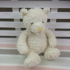 """Mothercare Cream White Teddy Bear Comforter Soft Toy 8"""" Yellow Nose"""