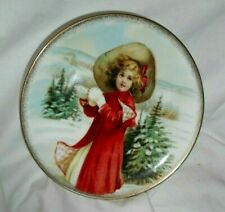 Cute Girl in Red Midwinter Magic Christmas Tree Snow Ball COALPORT China Plate