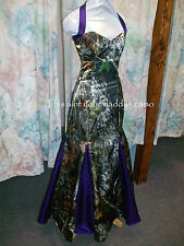 'Leah' Custom Made Full CAMO Prom Wedding Bridesmaids Mermaid Dress w/godet's