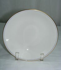 """Vintage White China 7"""" Soup Bowl Gold Rim Made in England"""