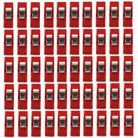 50pcs Red Wonder Plastic Sewing Knitting Clips Clamps DIY Craft Quilt Binding
