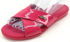 Cole Haan Women's Grand.OS Hot Pink Patent Leather Slide Sandals US 7 B D43609