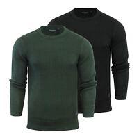 Mens Jumper Brave Soul Sotah Cotton Knitted Crew Neck Sweater