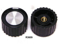 PLASTIC RADIO /TV KNOB FOR 8-32 THREADED SHAFT  PACKAGE OF 10 (R3609)