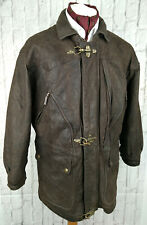Bikers Motors Club Leather Jacket Brown Size Large - France Made