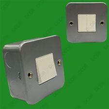 doble (2) Interruptor Banda 2 2 vías 10ax Chapado De Metal Pared
