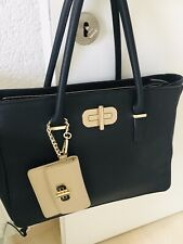 handtasche tommy hilfiger, Wie Neu, schwarz mit gold