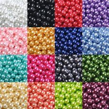 Wholesale 20 Colors Glass Pearl Round Spacer Loose Beads 4mm/6mm/8mm/10mm