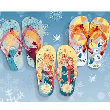 ** DISNEY FROZEN ANNA ELSA OLAF FLIP FLOPS SANDALS KIDS SUMMER SHOES BEACH GIFT