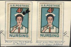 "US EFO Scott #1190  Line on forehead, TWO diff.! ""Nursing"""
