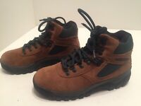Merrell Eagle Tan Hiking Boots Brown Green Leather Women's Size 6