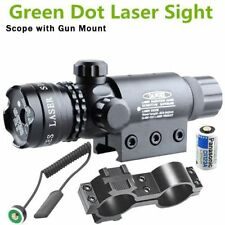 Green Laser Tactical Sight Rifle Dot Scope+Switch+Picatinny Rail+Barrel Mounts