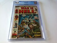 WAR IS HELL 1 CGC 9.4 WHITE PAGES MARVEL COMICS