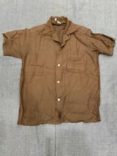 New listing *60s Vintage Kaynee Rayon Shirt Youth16 Brown Short Sleeve