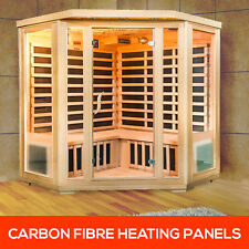 4 Person Corner Carbon Fibre Far Infrared Indoor Detox Box Sauna Room Cabin (AC)