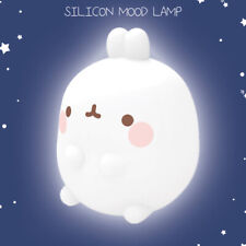 "Molang Silicon Mood Lamp 7.5"" LED Light Bedroom Kid Room Camping Interior Decor"