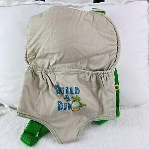 Build a Bear Dino Dinosaur Backpack Front Carrier Khaki Green Dinosaur Mom